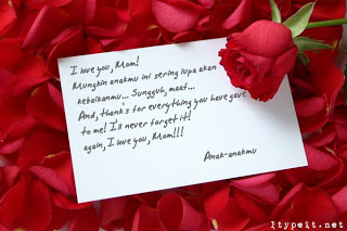 Contoh Surat Cinta Paling Romantis Terbaru 2013