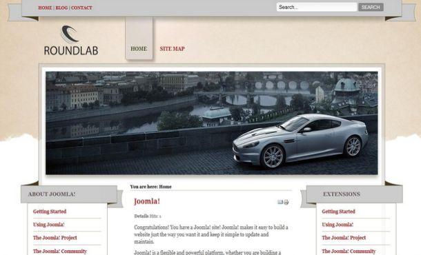 Free Cars Pink Joomla Theme Template