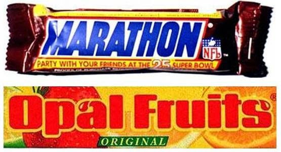 Marathon, Snickers, Opal Fruits, Starburst, 90s sweets, The 90s, 1990s, Funny, Pictures than make you feel old,