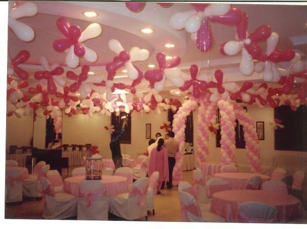 Birthday party decoration ideas interior decorating idea for Balloon decoration ideas for birthday party