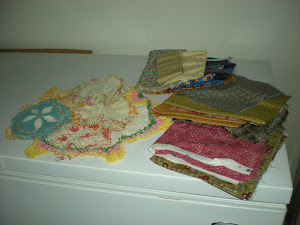Fabric and Doilies