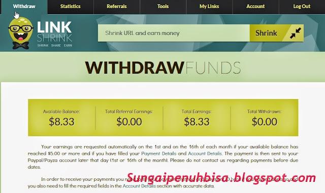 Cara Mendaftar Dan Trik Menghasilkan Banyak Uang dari Linkshrink.net upadate 2015