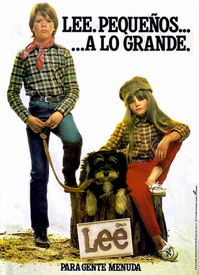 Vaqueros Lee Publicidad de los años 80