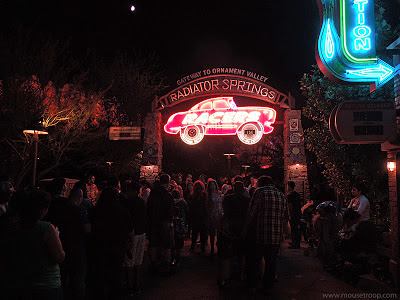 Cars Land Carsland DCA Disney California Racers night
