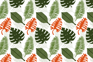 Tropical Jungle Plants Pattern  by Haidi Shabrina
