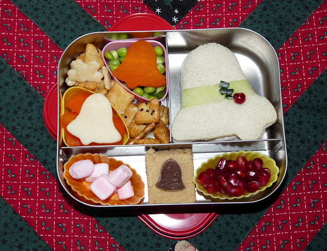 Christmas bells Lunchbots bento