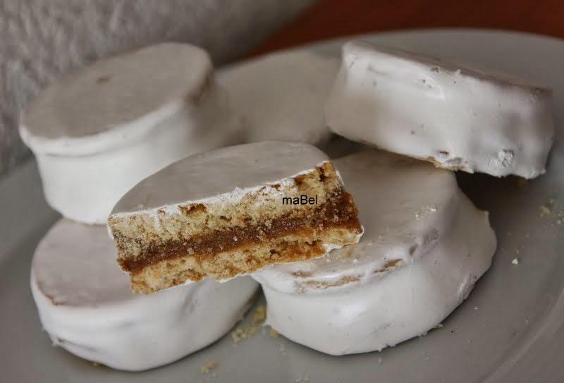 Baño Blanco Para Alfajores:Alfajores blancos de dulce de leche ~ Pasteles de colores