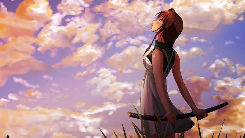 Anime Katana Girl title=