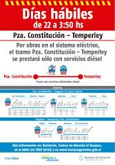 Modificación de servicios trenes de pasajeros - Ferrocarril Roca