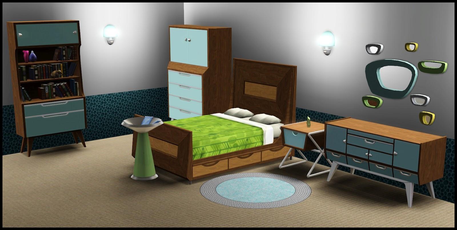 nightdove sims: store: a mid-century modern trailblazer set