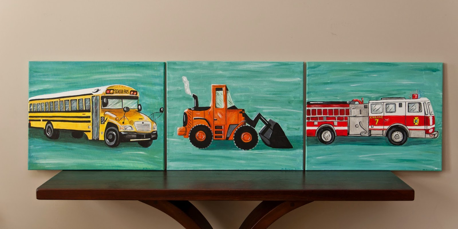 lilybug designs school bus painting
