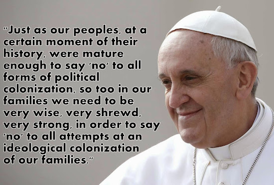 Pope Francis on ideological colonization