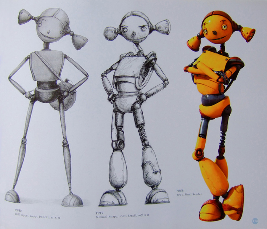 Cartoon Characters 2005 : Living lines library robots character development