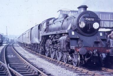 75070 on RCTS Railtour Soton-Fareham-Gosport  1966