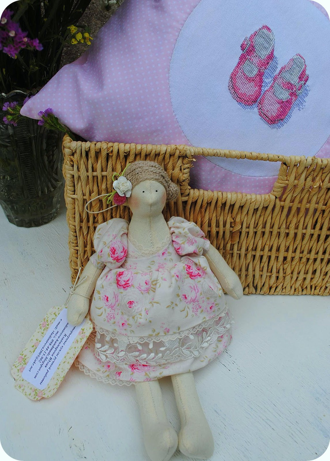 newborn, kids, baby, gift, sewing, embroidery, cross stitch, pink, girl, kids, buy, handmade, shoes, slippers, booties, natural, pillow, fairies, beautiful,doll, tilda, cotton