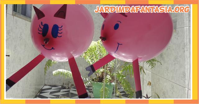 Decoração Com balões Os Três Porquinhos