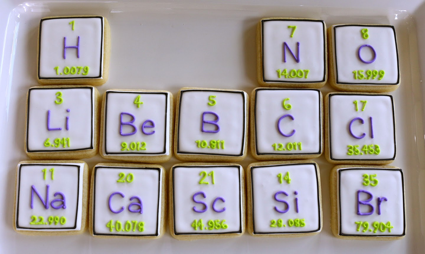 periodic table cookies
