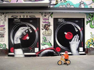 graffitti bandejas de dj