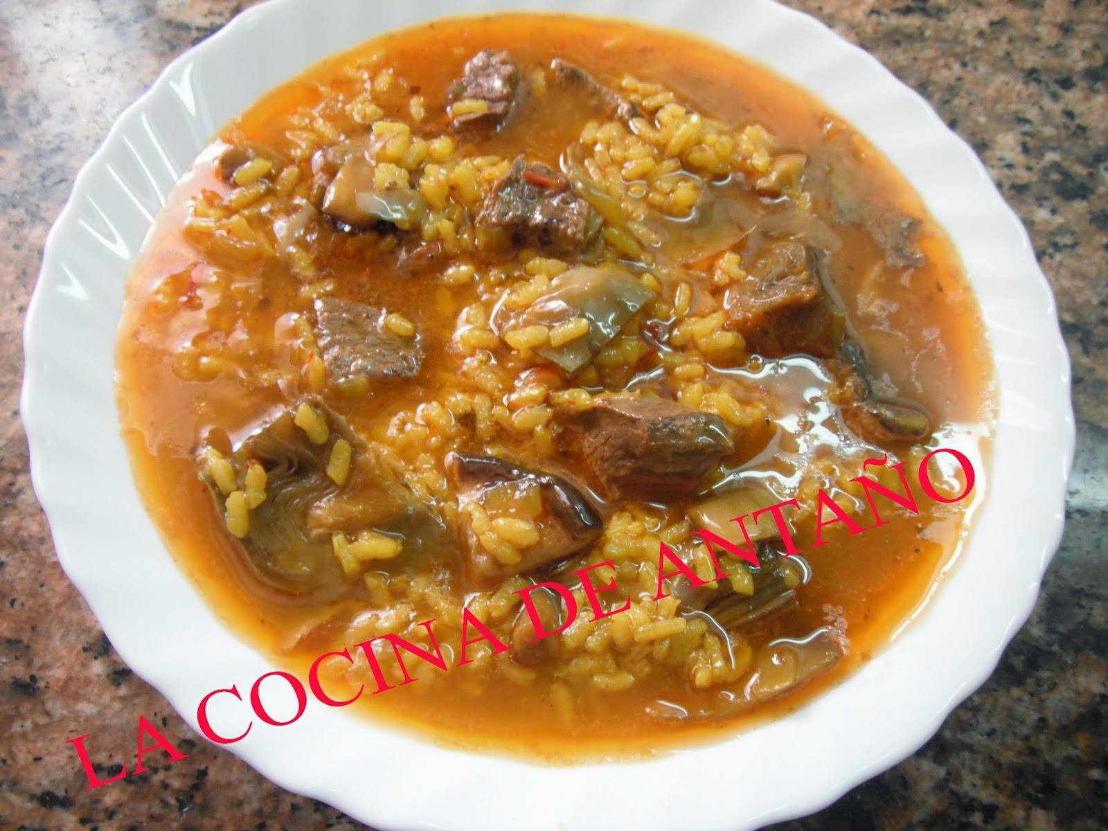 La cocina de anta o arroz caldoso con pato alcachofas y - Arroz caldoso con costillas y alcachofas ...