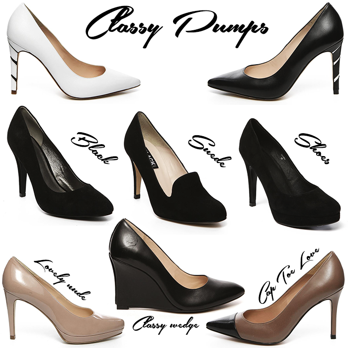Wanted classy pumps manfield heels shoes white black