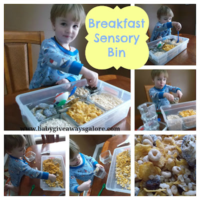 Breakfast, Sensory Bin, Kids