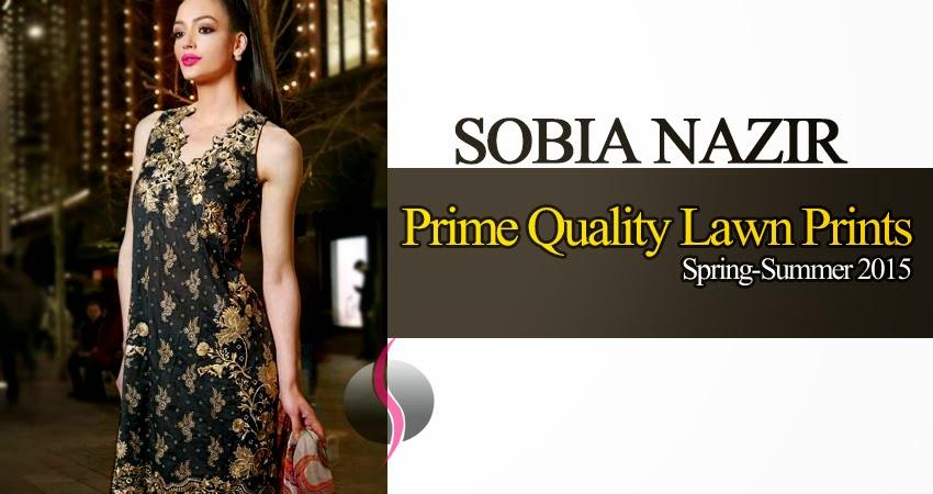 Supreme Quality Lawn/Chiffon by Sobia Nazir