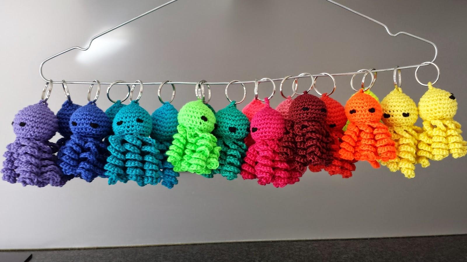 Crochets4u Gratis Patroon Sleutelhanger Gehaakt Inktvisje