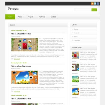 Process blog template. download blogger template clean and minimalist design template