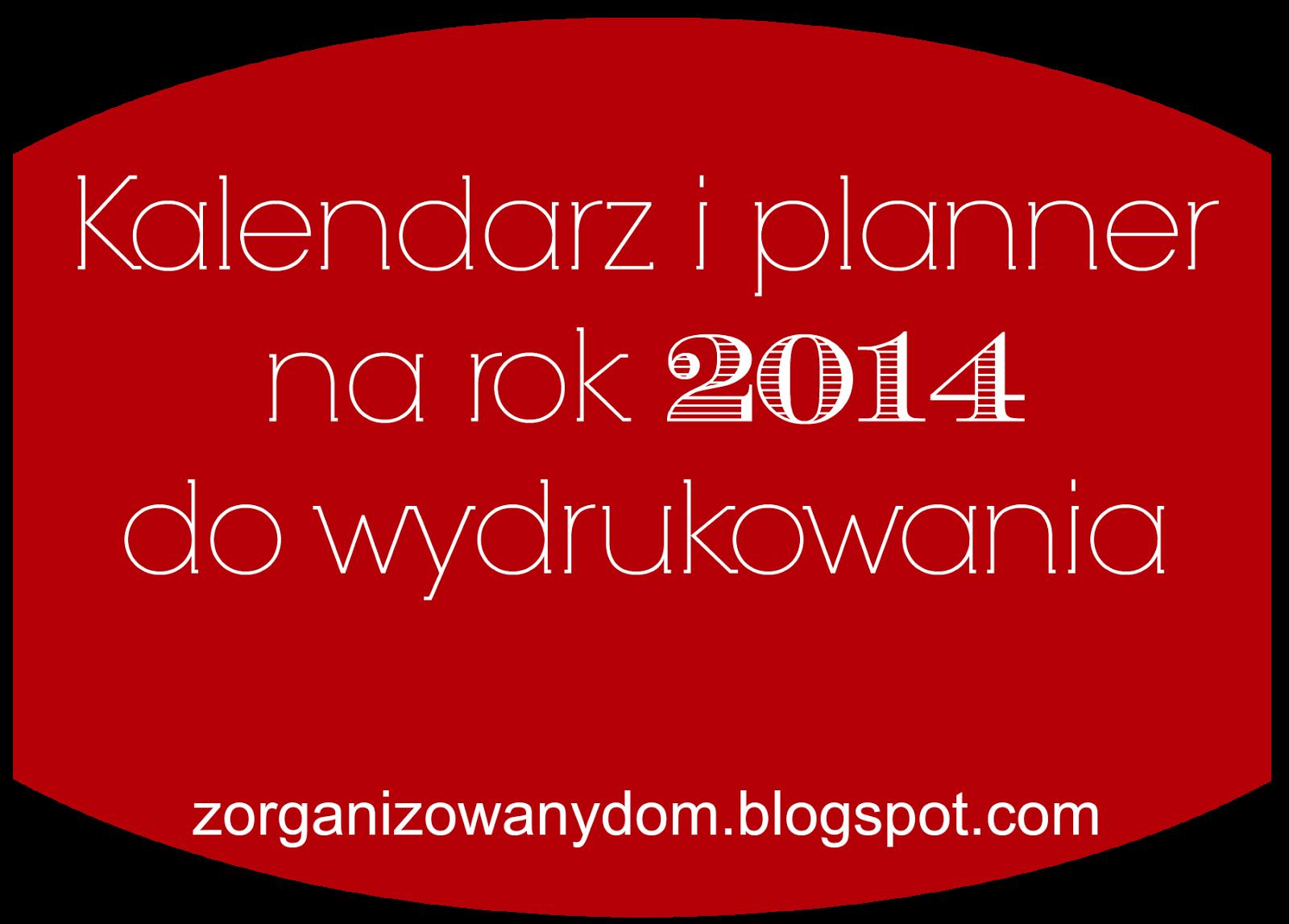Uniwersalny Kalendarz   Planner Do Wydrukowania Na Rok 2014