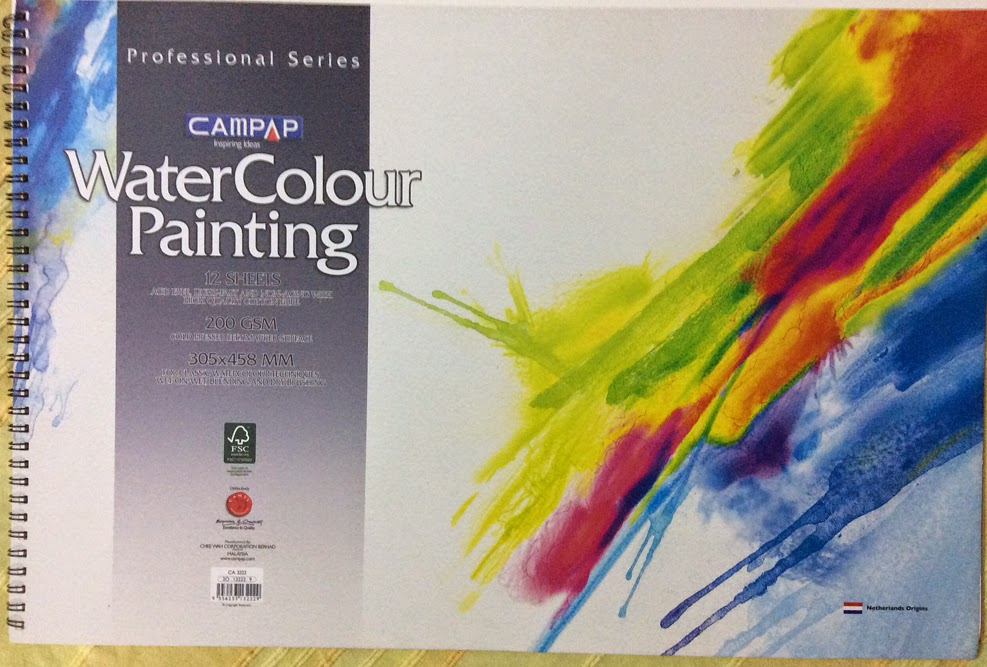campap water colour paper from malaysia