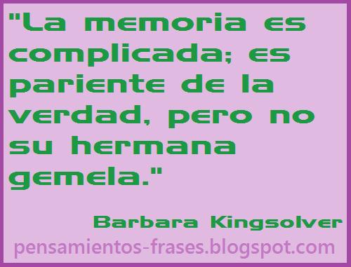 frases de Barbara Kingsolver