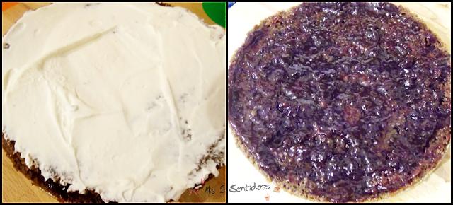 Tarta de chocolate rellena de nata y mermelada con Thermomix