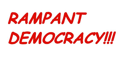 Rampant Democracy! Red letters