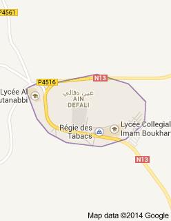 Ain Defali, Royaume du Maroc.