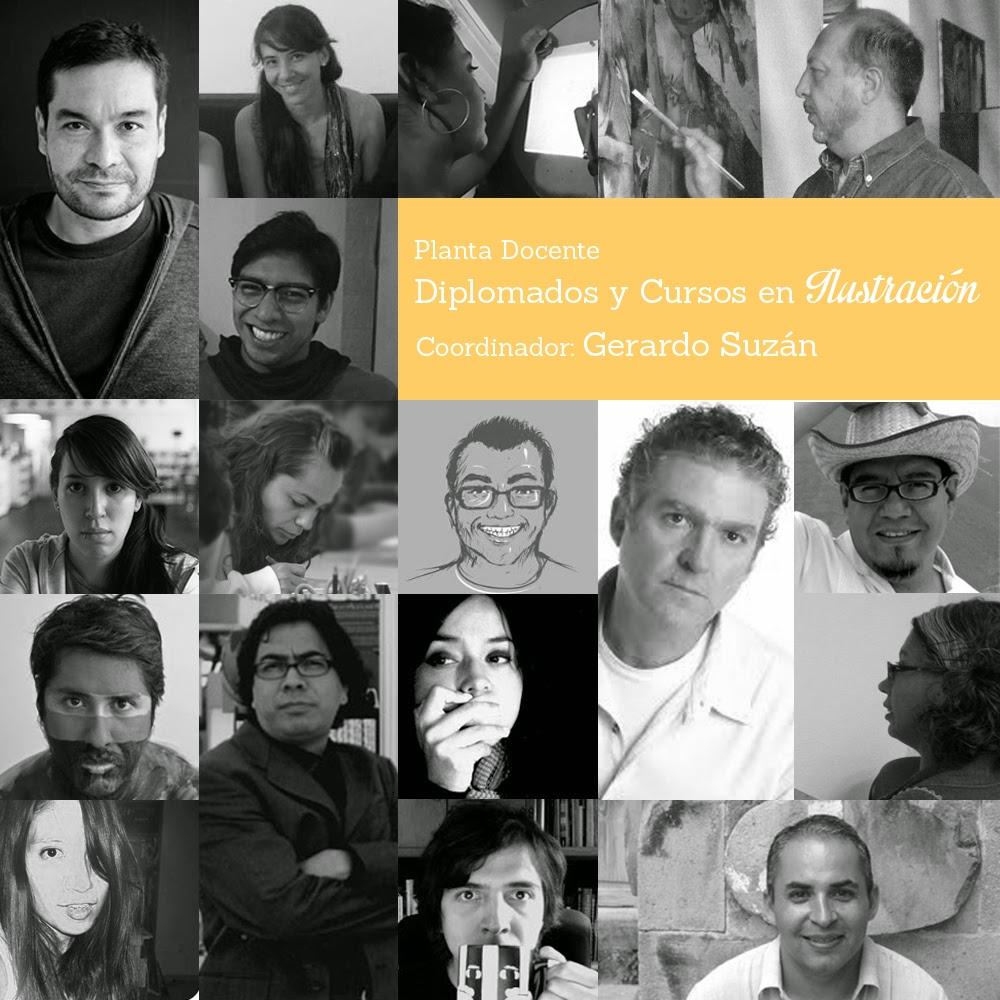 Diplomado en Ilustración Gerardo Suzán 2015 Academia de san carlos