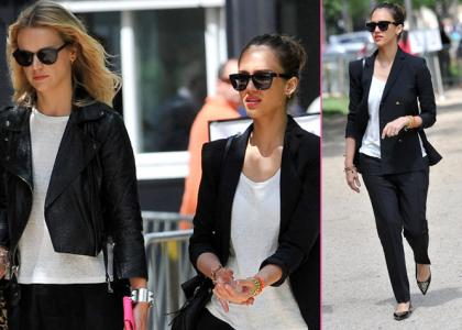 Jessica Alba Hits the Streets During Paris Fashion Week » Gossip/Jessica Alba