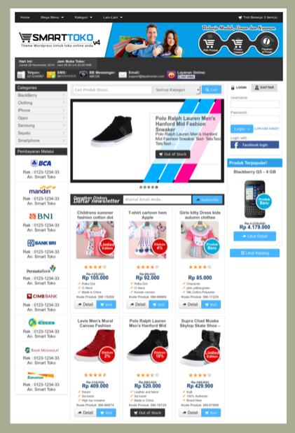 Template toko online 3 kolom