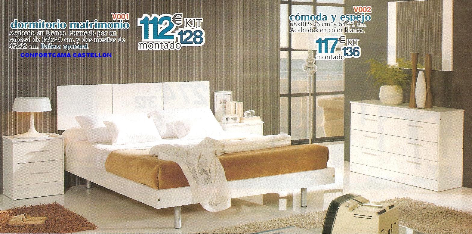 Muebles oferta kit dormitorios de matrimonio for Muebles baratos castellon