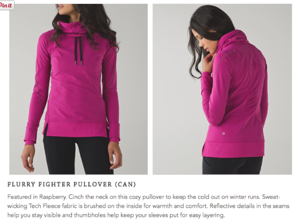 lululemon flurry-fighter-pullover raspberry