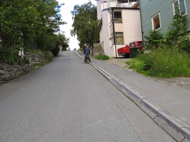 The Trampe cyclocable city of Trondheim in Norway