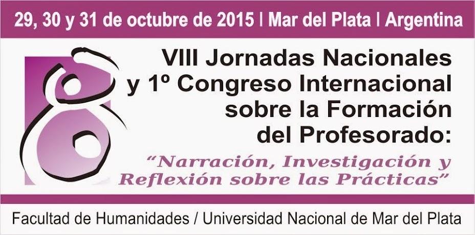 VIII Jornadas Nacionales sobre la Formación del Profesorado