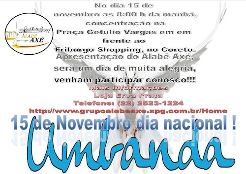 Comemoração do dia Nacional da Umbanda