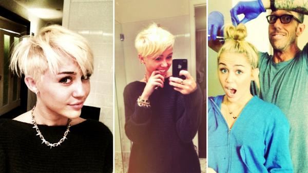 New Life Style: Miley Cyrus' hairstyle : Actress debuts ...
