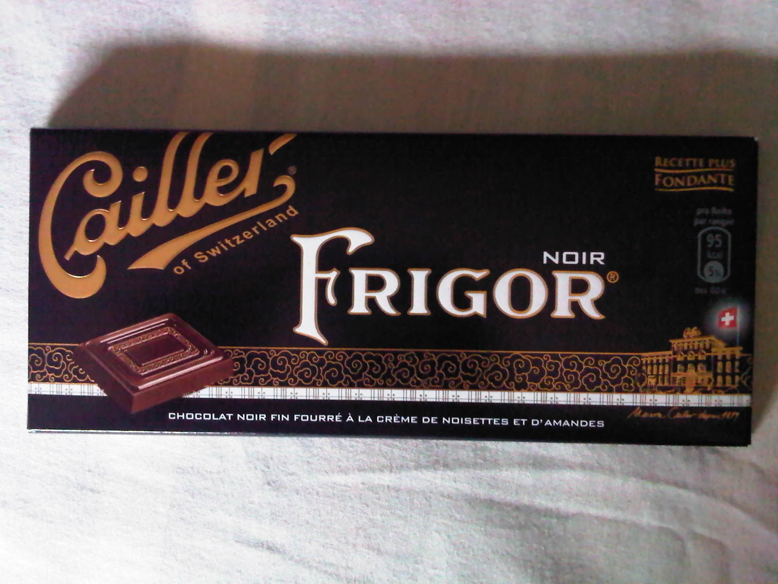 Regin's Realm: Chocolate review: Cailler Frigor Noir