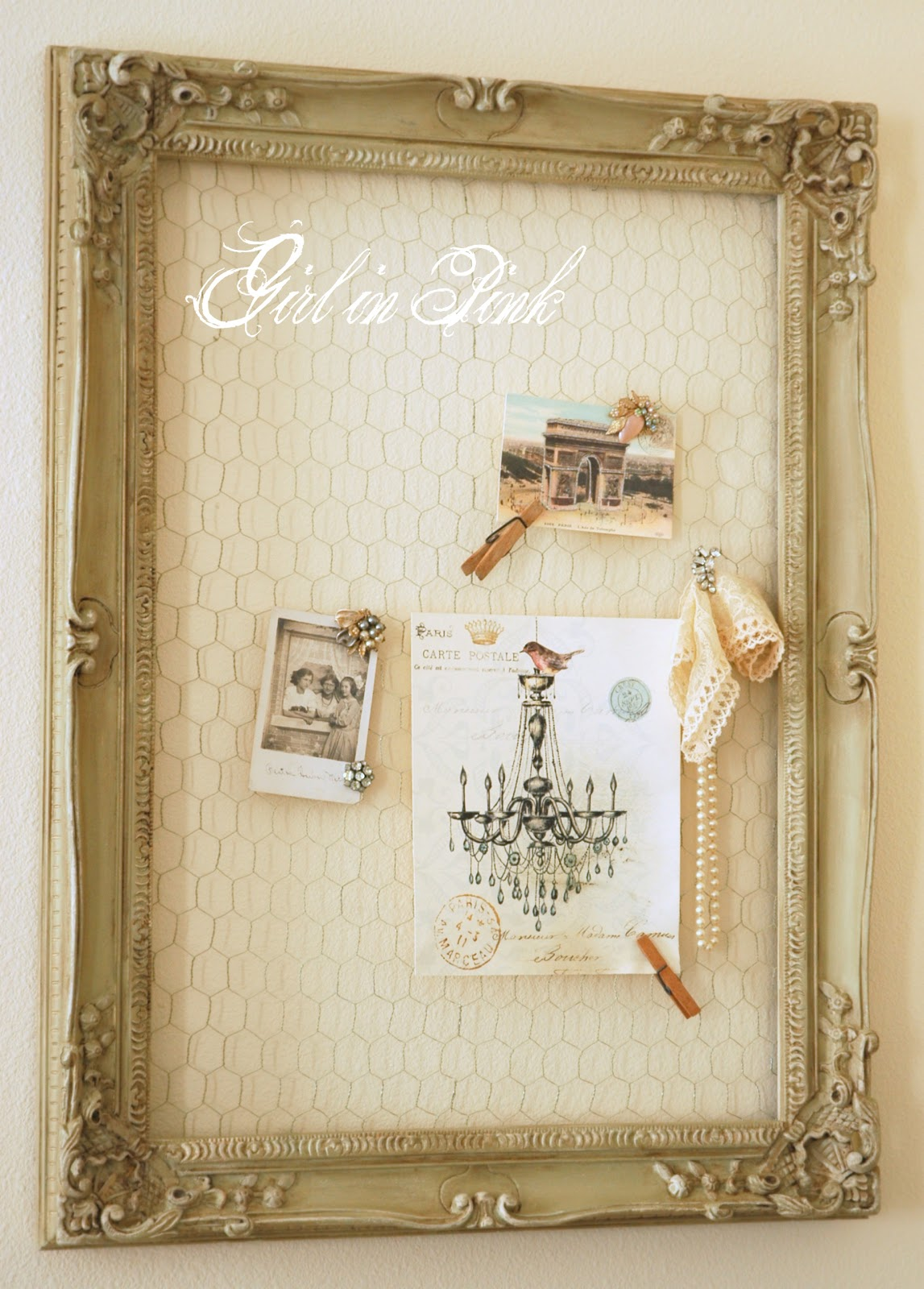 Girl in Pink: Chicken Wire Inspiration Board