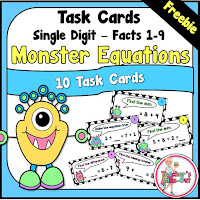 Free simple addition task cards