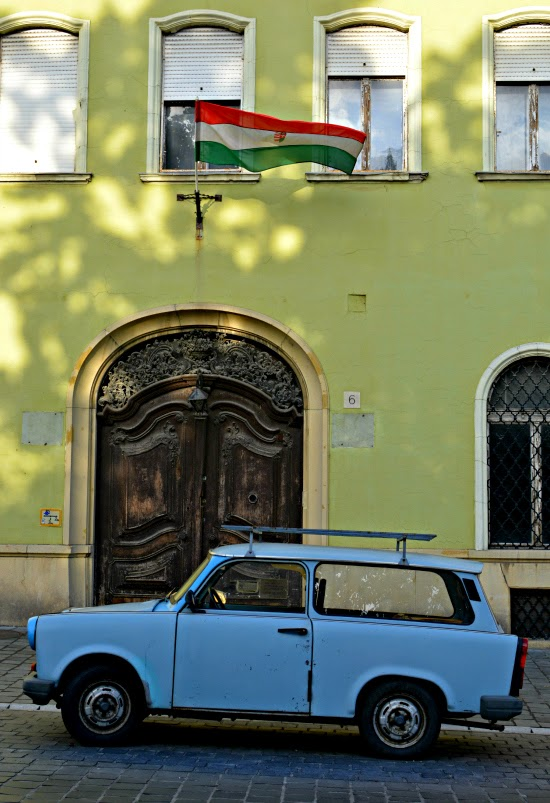 Trabant on Budapest Castle Hill