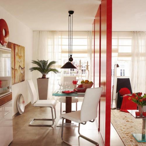 Decoraci n de interiores combinar sala y comedor for Combinar lamparas salon comedor