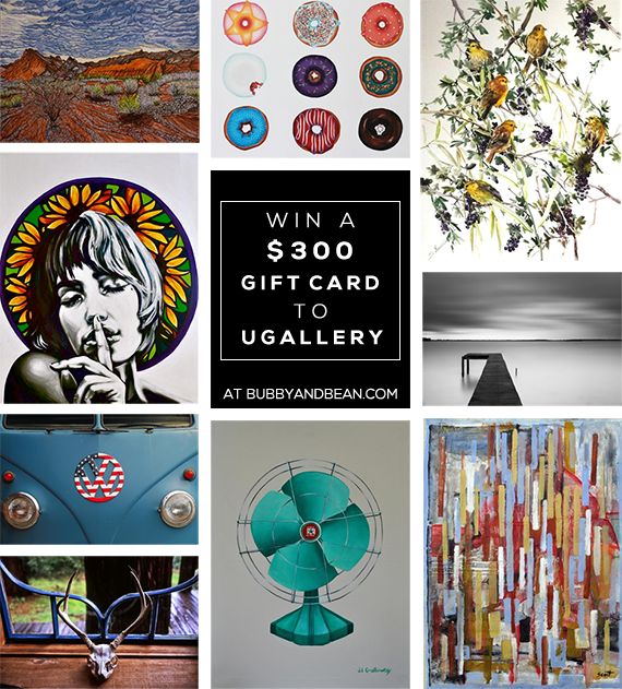 GIVEAWAY // Win a $  300 Gift Card to UGallery