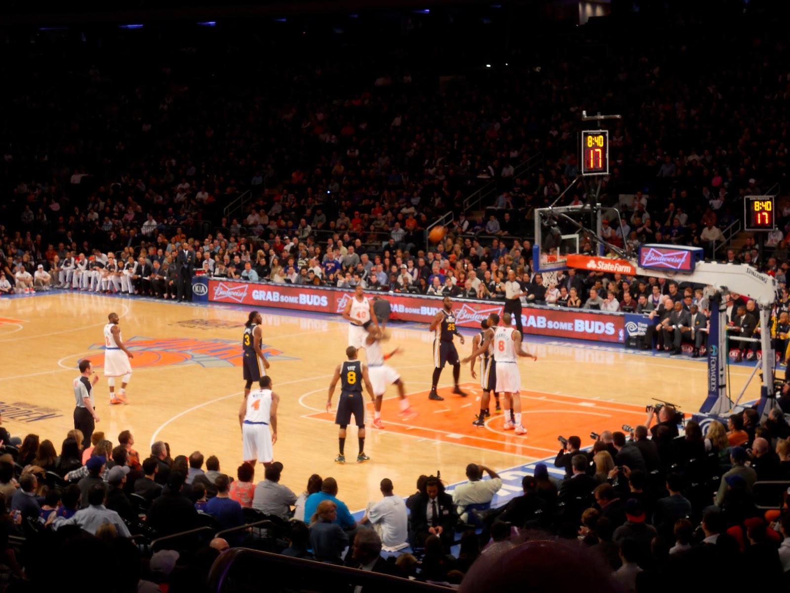 A North Star In An Eastern Sky Touristy Knicks Game At Madison Square Garden